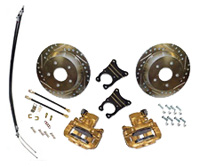 "53-62 Corvette 10 & 12 Bolt Rear Disc Brake Conversion12"" Drilled/Slotted Rotors"
