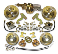 53-62 Corvette Front and Rear Disc Brake Conversion kit  w/ Power Brake Booster Combo
