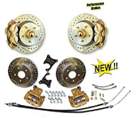 "53-62 Corvette Front and Rear Disc Brake Conversion 13"" Rotors & 4-piston calipers"